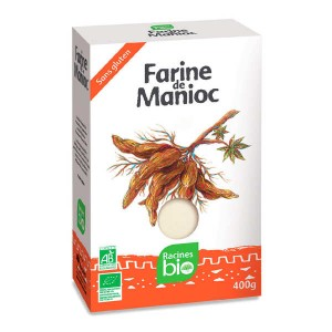 Farine de manioc bio sans gluten - Paquet 400g