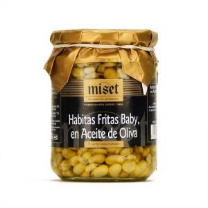 Petites fèves frites à l'huile d'olive - Bocal 390g net