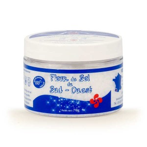 Fleur de sel de source du Béarn - pot plastique - Boite 70g