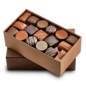 Ballotin premium de chocolats noirs et au lait - Ballotin 525g