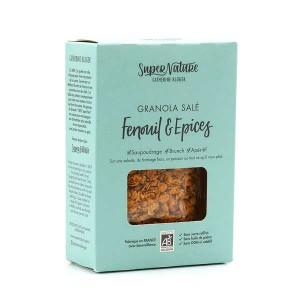 Granola salé bio au fenouil et aux épices - Boite 160g