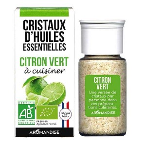 Citron vert - Cristaux d'huiles essentielles à cuisiner - Bio - Flacon 10g