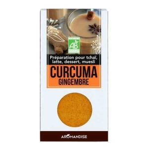 Curcuma latte au gingembre bio - Etui 60g