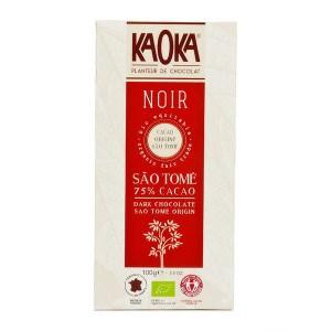 Tablette de chocolat noir 75% bio origine Sao Tomé - Tablette 100g