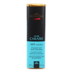 Bâton de chocolat noir Caraïbe 66% - Valrhona - Bâton 20g