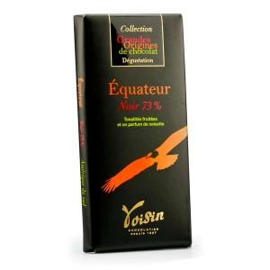 Tablette chocolat noir Equateur 73% - Voisin - Tablette 100g
