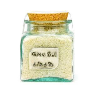 Gros sel marin de l'Ile de Ré - bocal verre - Bocal 400g