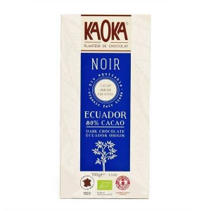 Tablette de chocolat noir 80% bio origine Equateur - Tablette 100g