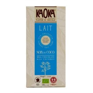 Tablette de chocolat au lait 32% à la noix de coco bio - Tablette 100g