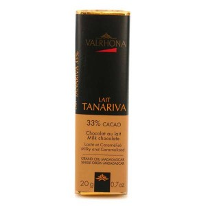 Bâton de chocolat au lait Tanariva 33% - Valrhona - Bâton 20g