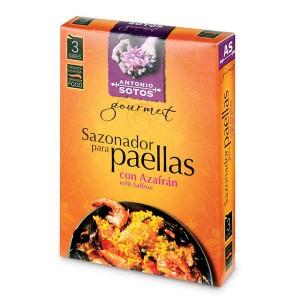 Mélange d'épices naturelles pour paëlla avec Safran - 3 sachets de 3g