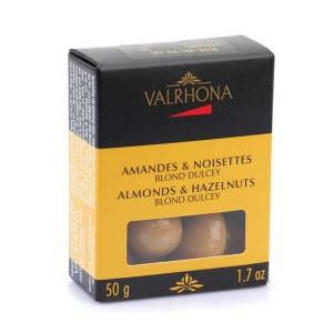 Amandes et noisettes au chocolat dulcey - Valrhona - Boîte 50g