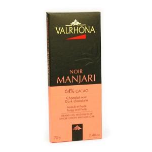 Tablette de chocolat noir Manjari pur Madagascar 64% - Valrhona - Tablette 70g