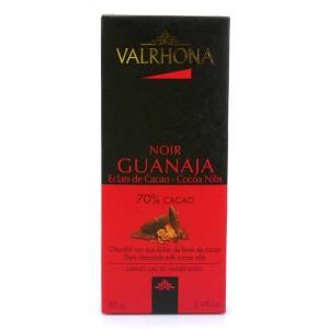 Tablette de chocolat noir Guanaja 70% éclats de cacao - Valrhona - Tablette 85g