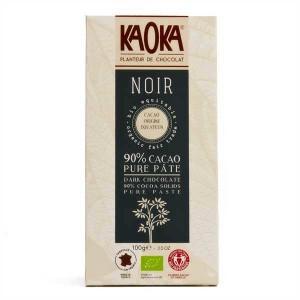 Tablette dégustation bio au chocolat noir 90% Equateur - Tablette 100g