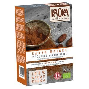 Cacao en poudre dégraissé non sucré bio équitable - Paquet 250g