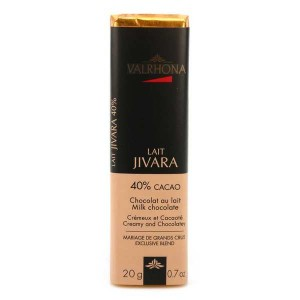 Bâton de chocolat au lait Jivara 40% - Valrhona - Bâton 20g