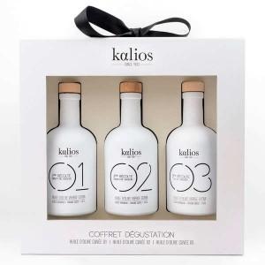 Coffret dégustation 3 huiles d'olive premium grecques - Coffret 3 bouteilles de 25cl