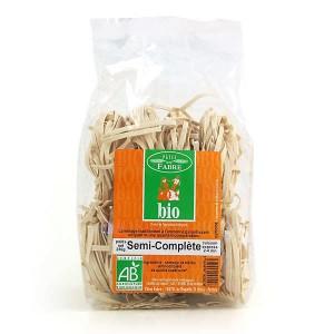 Tagliatelles bio au blé dur semi-complet - Sachet 250g