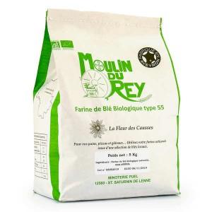 Farine de blé Fleur des Causses bio - T55 - Sac de 5kg