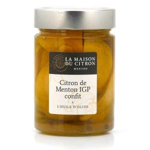 Citrons de Mentons IGP confits à l'huile d'olive - Bocal 310g