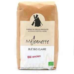 Farine bio de blé ancien claire (Florence Aurore) (equiv. T110) - Farine de meule Méjeanette - Sac 1kg