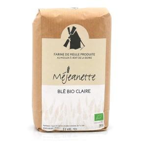 Farine de blé bio claire (équiv. T110) - Farine de meule Méjeanette - Sac 1kg