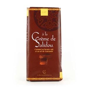 Chocolat au lait fourré à la crème de caramel au beurre salé (Salidou) - Tablette 100g
