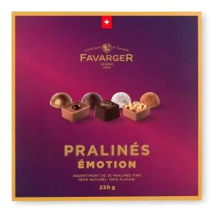 Boîte de pralinés suisses Emotion - Favarger - Boîte 16 pralinés