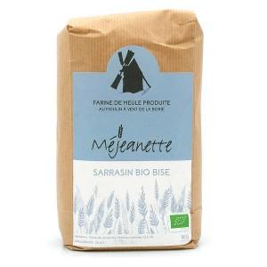 Farine bio de sarrasin bise (équiv. T110 à T150) - Farine de meule Méjeanette - Sac 1kg