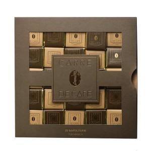 Coffret napolitain carrés de café - Coffret de 25 tablettes de 5g
