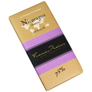 Tablette chocolat noir Nicaragua - Trinitario 75% - Tablette 100g