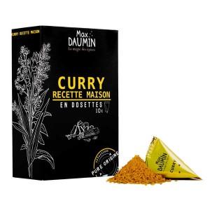 Dosettes de Curry recette maison - Assemblage de 12 épices - Boite de 10 dosettes