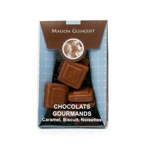 Chocolats gourmands - Caramel, Biscuit, Noisette - Sachet 100g