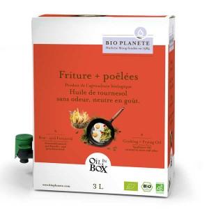 Huile de tournesol désodorisée bio spéciale cuisson en Bag in Box - Bag in Box 3L