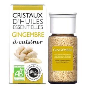 Gingembre - Cristaux d'huiles essentielles à cuisiner - Bio - Flacon 10g