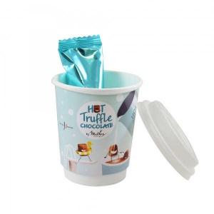 Take Away Mathez : Mug pour chocolat chaud de truffes - Mug décoré avec 3 truffes à faire fondre