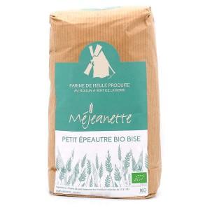 Farine bio de petit épeautre bise (équiv. entre T110 et T150) - Farine de meule Méjeanette - Sac 1kg