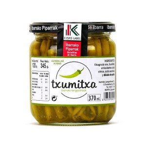 Piment vert doux Guindilla en saumure (Langostinos de Ibarra) - Bocal 345g