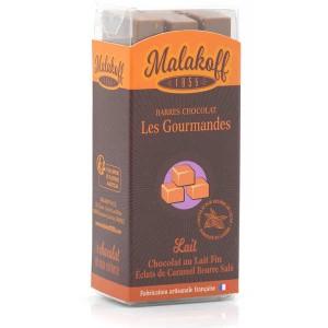 Barre chocolat caramel Malakoff 1855 sans emballage individuel - Réglette de 6 barres de 20g