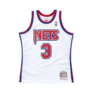 Maillot NBA swingman Dražen Petrović New Jersey Nets 1992-93 Hardwood Classics Mitchell & ness Blanc