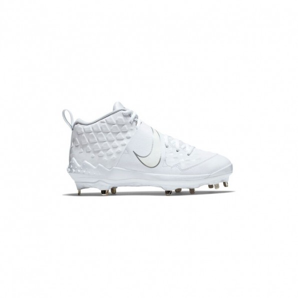 televisor Color rosa Broma  Nike Crampons de Baseball métal Air Trout 6 Mid Blanc pour Homme - Nike -  tightR
