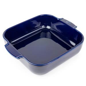 Plat four carré céramique bleu 28 cm Peugeot