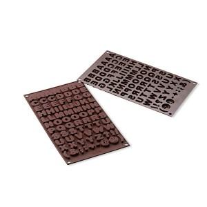 Moule chocolats ABC silicone Silikomart