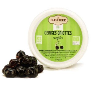Cerises griottes confites bio - Pot 150g