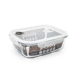 Boîte rectangulaire en verre 2,25 L Pebbly