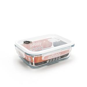 Boîte rectangulaire en verre 1L Pebbly