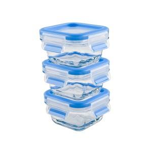 CLIP & CLOSE lot de 3 boîte alimentaire bébé verre 0.2L Emsa