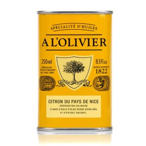 Huile d'olive vierge extra au citron du pays de Nice - Bidon 250ml