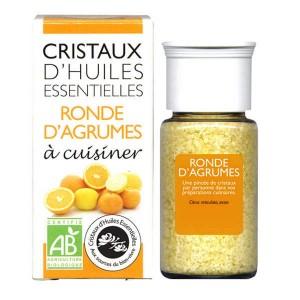 Agrumes - Cristaux d'huiles essentielles à cuisiner - Bio - Flacon 10g